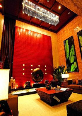 东南亚时尚背景墙装修案例