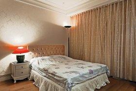 温馨米色雅致简欧风格卧室混搭装潢