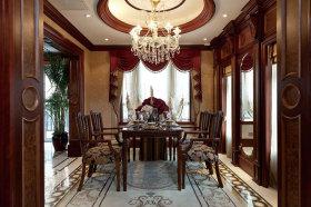 东南亚风格褐色雅致餐厅设计欣赏