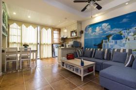 地中海蓝色客厅装修效果图