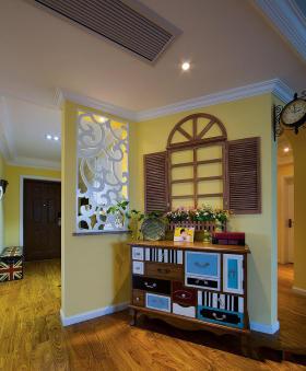 黄色田园风格收纳柜设计欣赏