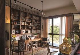 原木色质朴新古典背景墙装修设计