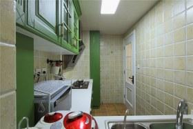 绿色混搭风格厨房设计装潢