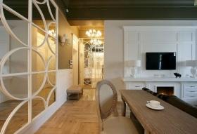 201雅致白色现代风格客厅局部装修案例
