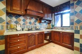 美式风格黄色雅致厨房装修设计