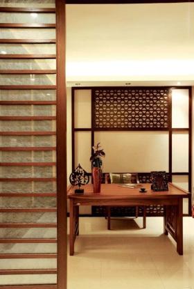 东南亚风格精美镂花时尚书房装饰案例