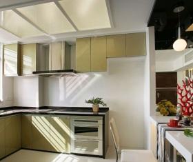 现代风格米色风格厨房设计美图