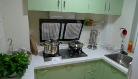 绿色清爽现代厨房效果图欣赏