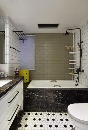黑色简约卫生间装饰设计图片