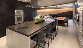 灰色现代风格厨房图片欣赏