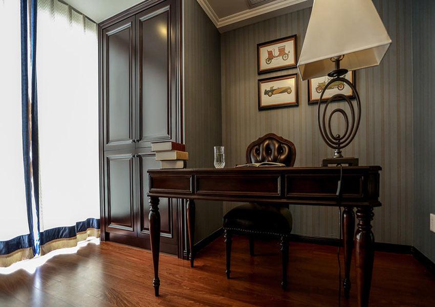 古典华丽欧式风格书房效果图设计