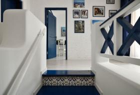 地中海浪漫蓝色楼梯赏析