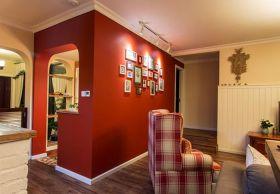 米色美式照片墙创意装饰案例