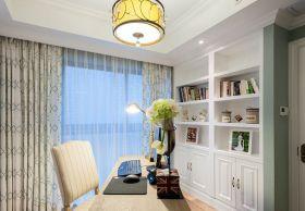 白色唯美清爽简欧风格书房设计图片