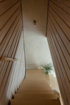 田园风清新黄色楼梯装修设计