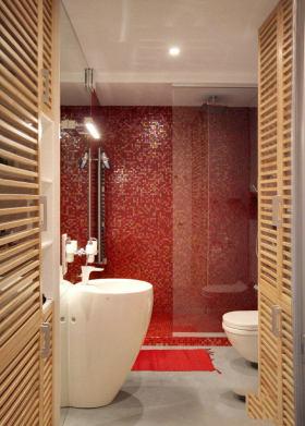 现代风格红色个性卫生间美图赏析