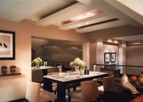 黄色现代风格餐厅效果图欣赏