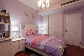 欧式风格清新紫色卧室装修设计