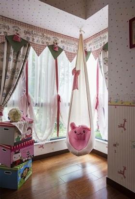 粉色现代风格儿童房装修效果图