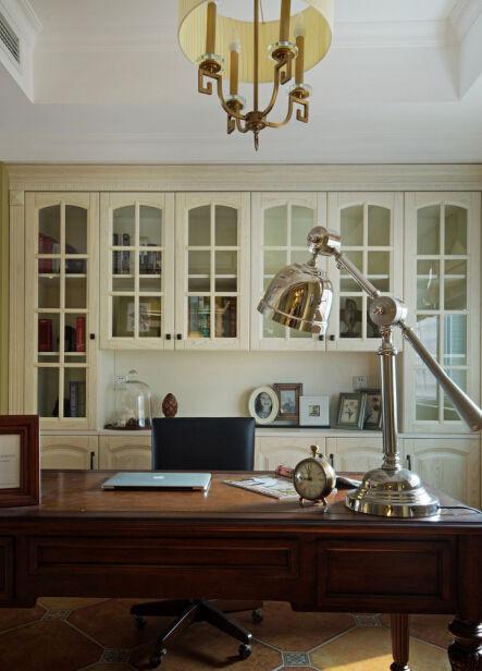 米色素雅简欧风格书房设计图