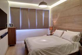 米色现代风格卧室窗帘装修设计