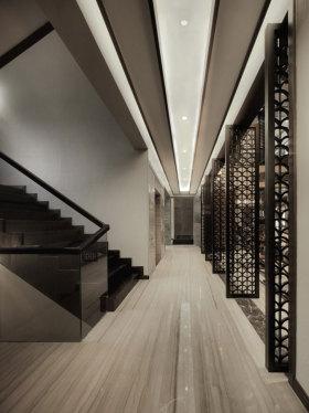 黑色典雅中式风格过道装修图