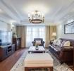 混搭风格大气白色客厅装饰案例