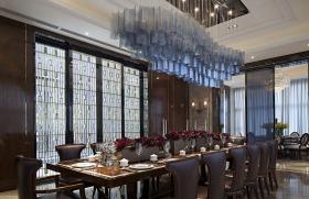 黑色新古典风格餐厅装修布置