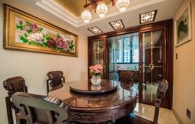 中式风格褐色餐厅装修