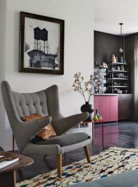 灰色简欧风格布艺沙发装饰赏析