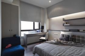 灰色都市时尚现代风格卧室设计