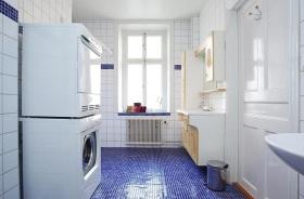 蓝色马赛克时尚美式风格卫生间装修