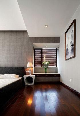 黑色个性创意中式风格卧室过道装修设计