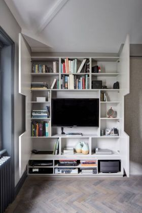 实用白色简约风格背景墙收纳装潢案例