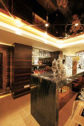 美式风格个性原木色吧台效果图设计