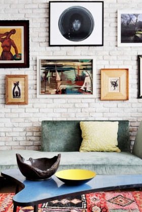 现代风格照片墙装修美图赏析