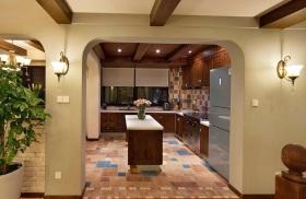 2016米色清新地中海风格厨房装修设计