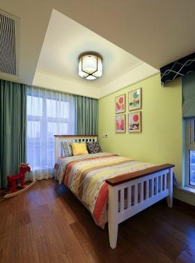 宜家风格温馨黄色儿童房装修设计
