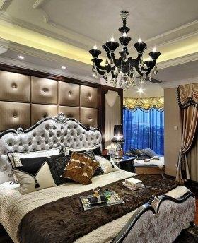 褐色欧式风格卧室装修效果图欣赏