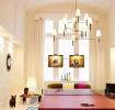 宜家风格温馨米色客厅装修设计