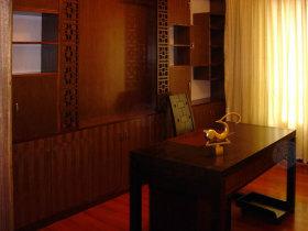 褐色中式风格书房装修图片