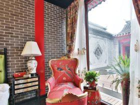 中式风格雅致窗帘装修效果图