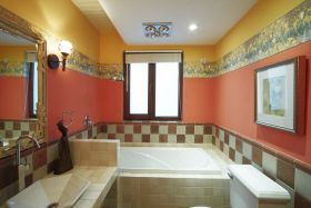 复古橙色欧式风格卫生间美图赏析