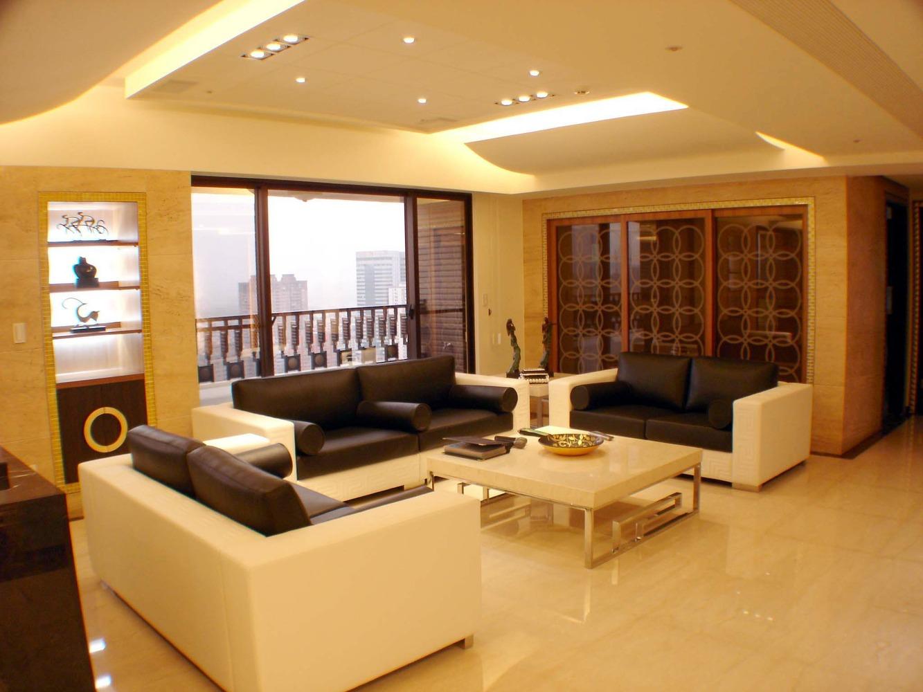 商務都市簡約風格客廳裝潢設計圖片