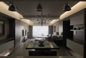 现代风格暗色餐厅装潢设计