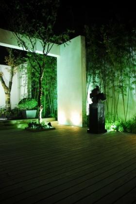 中式清新雅致绿色花园装修图片