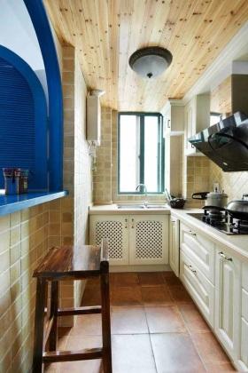 浪漫清新地中海风格米色厨房装潢设计装潢