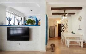 地中海米色客厅设计图