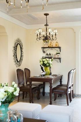 浪漫唯美美式风格餐厅装修图片