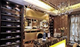 欧式风格奢华精美吧台装饰设计图片